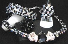 bijoux fantaisie Noir et blanc Swarovski