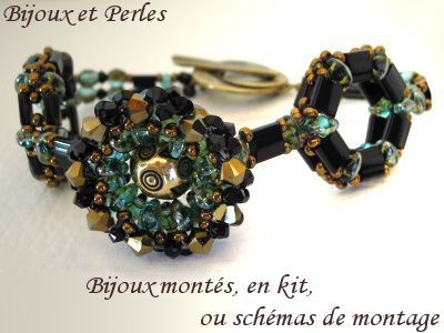 Bracelet fantaisie en tila et twin-beads