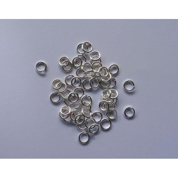 Anneaux argentés 5 mm x 50