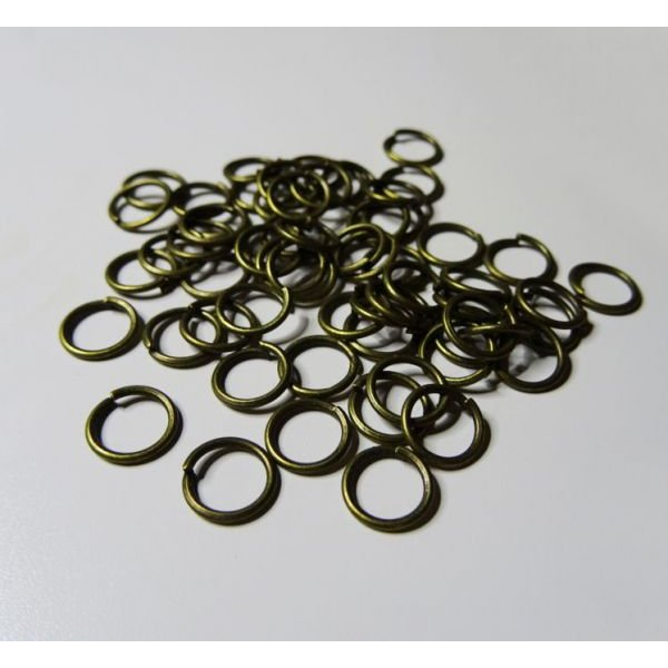 Anneaux bronze vieilli 6 mm x 50