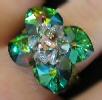 Aruba Swarovski crystal bead ring pattern