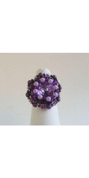 Bague Amitié violet en kit