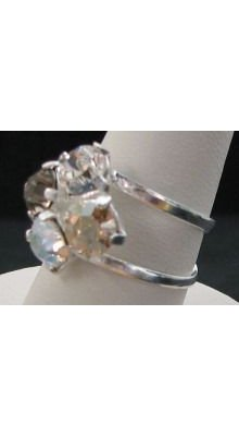 Bague 4 cabochons rivoli Swarovski Crystal