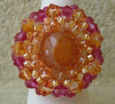 Bague en kit Somerset Orange ambrée