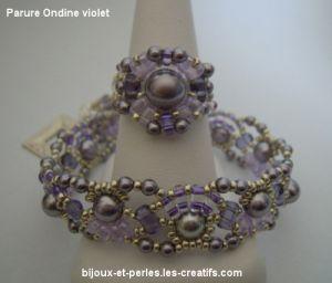 Bague Ondine Violet en kit