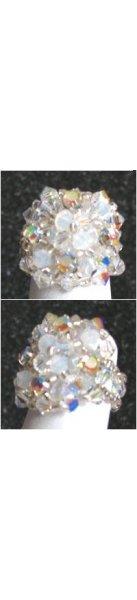 Bague avec strass Addison cristalia  (kit)