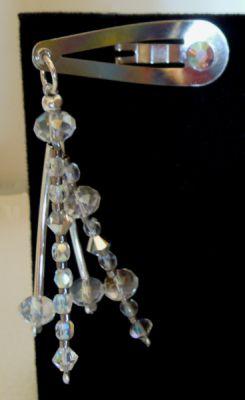 Barrette perles cristal et tubes