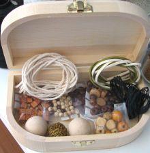 Boîte de perles en bois idéal macramé