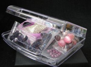 Boîte de perles valisette Violet