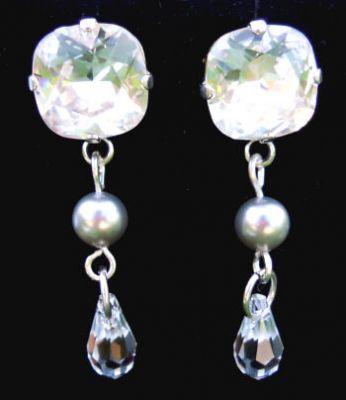 Boucles d'oreilles Cabochons Gouttes Crystal