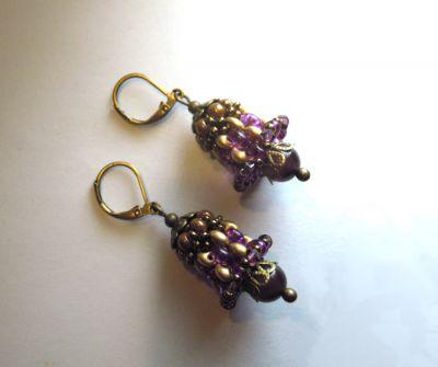 Boucles d'oreilles Cloches Violet