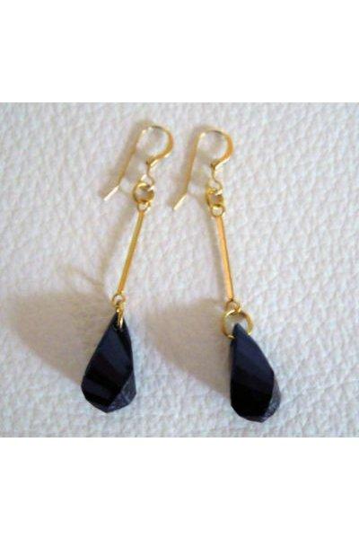 Boucles d'oreilles Hélix Noir et or