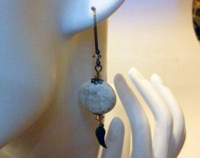 Boucles d'oreilles en pierre Magnésite