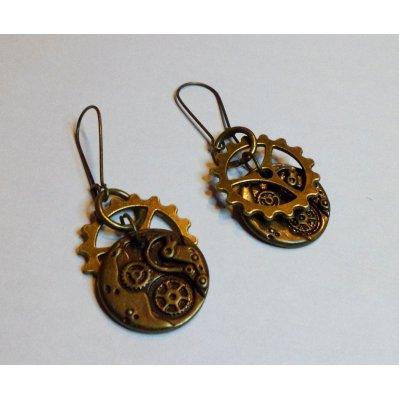 Boucles d'oreilles Steampunk engrenages