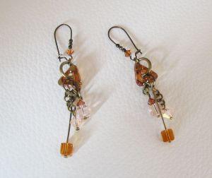 Boucles d'oreilles Swarovski ambre
