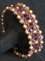 Notice bracelet Latitude Prune