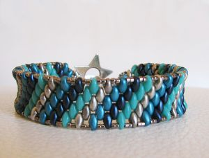 Bracelet Amitié bleu turquoise en kit