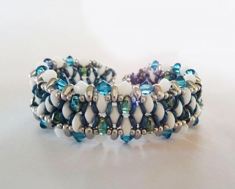 Bracelet O'beady Blanc-bleu en kit