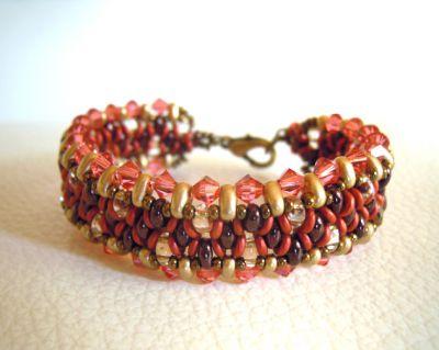 Bracelet O'beady Rouge indien en kit