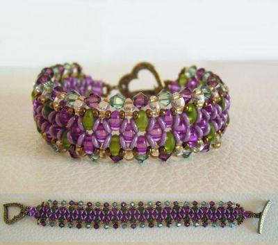 Bracelet O'beady Violet vert en kit