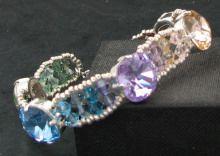 Bracelet Célestia argenté en cristal Swarovski