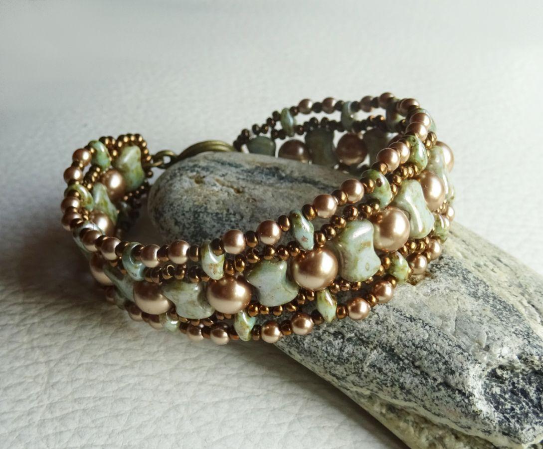 Bracelet Coco Vert-gris marbré en kit