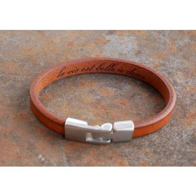 Bracelet cuir Homme gravé cadeau personnalisé