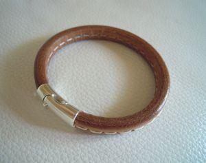Bracelet cuir Regaliz couture Unisexe