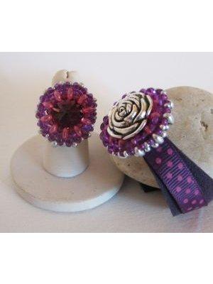 Bracelet médaillon Livelove Violet en kit