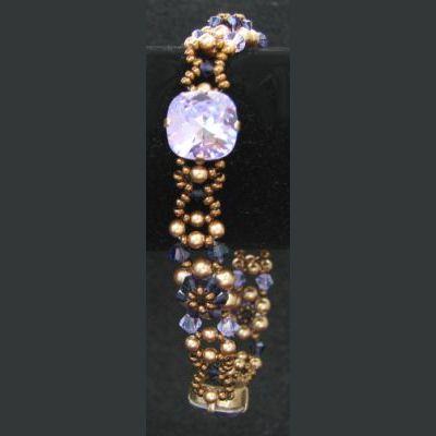 Bracelet Djerba Violet et or en kit