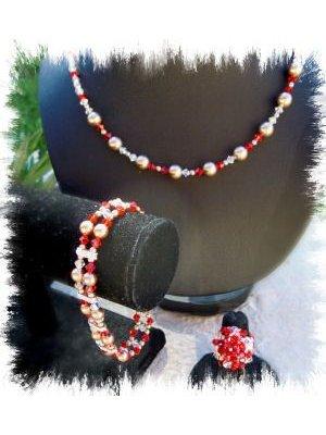 Bracelet Double Swarovski Rouge en kit