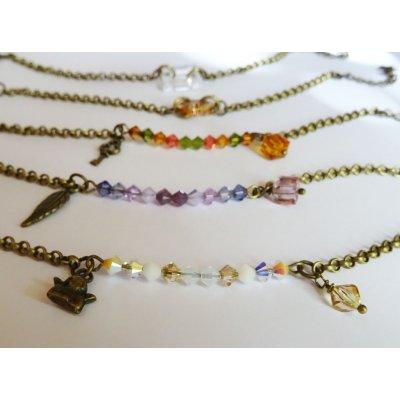 Bracelet fin chaîne bronze Triangle