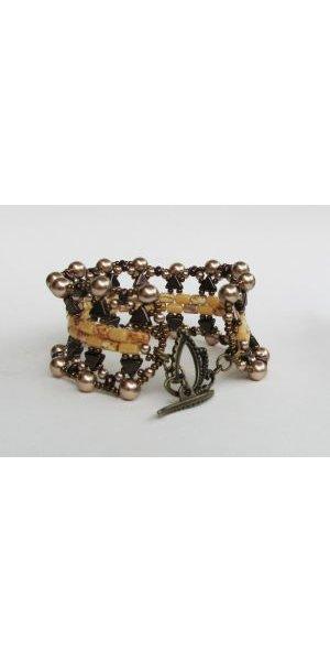 Bracelet Gizeh en perles Khéops bronze en kit