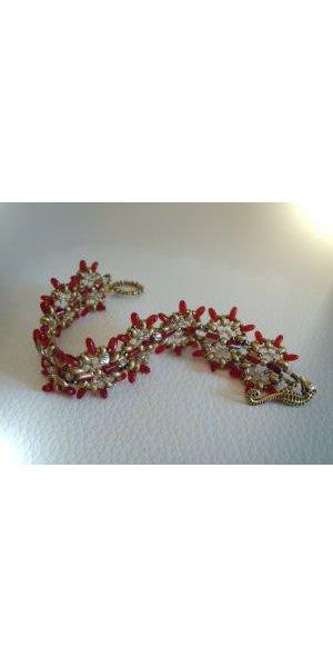 Bracelet Indiana Rouge & or en kit