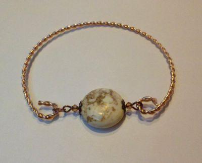 Bracelet jonc pierre magnésite