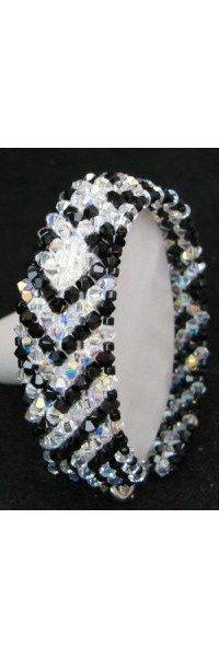 Bracelet en kit Bandeau Noir et cristal