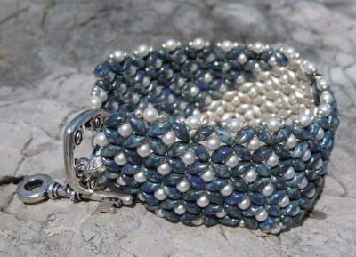 Bracelet en kit Duo Saphir Argent