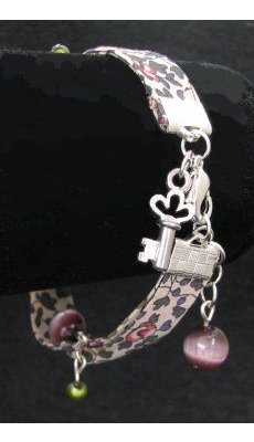Bracelet Liberty breloques argent