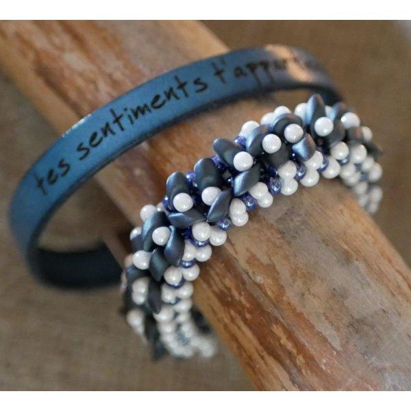Bracelet Magatama Bleu en kit