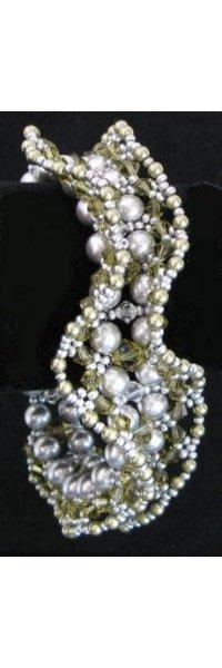Bracelet Mauri Kaki & Gris en kit