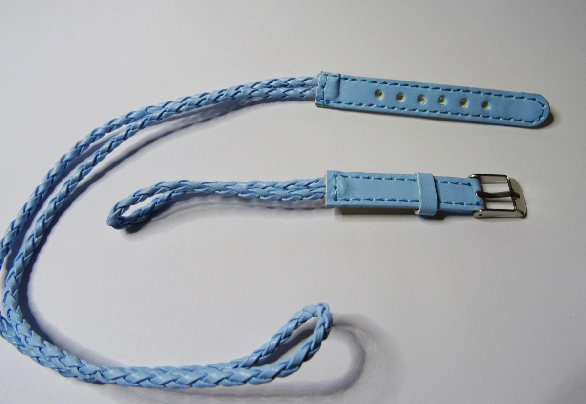 Bracelet montre tressé ciel