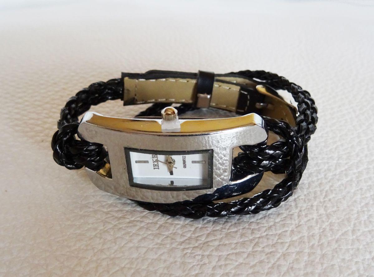 Bracelet montre tressé argent