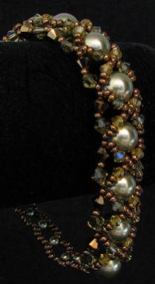 Bracelet Oriane Kaki mordoré en kit