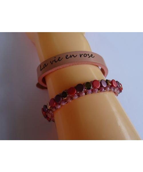 Bracelet Pointillés corail en kit