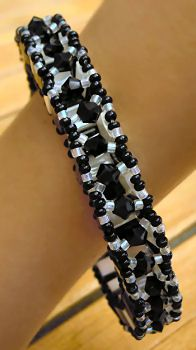 Schémas Bracelet Tila Anneau 3D Noir&blanc