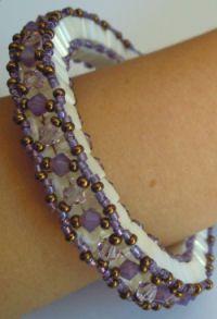 Bracelet Tila Anneau 3D Parme (grand) en kit