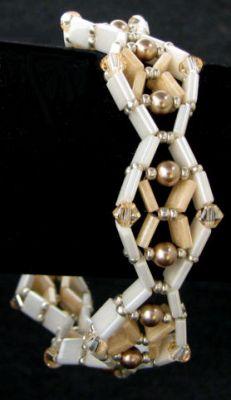 Bracelet Tila Diadème beige  en kit