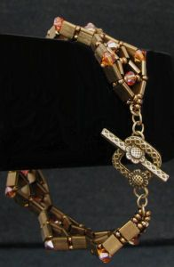 Bracelet Tila Diadème bronze  en kit