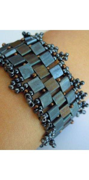 Bracelet Tila Frou-frou ardoise en kit