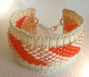 Bracelet Tila Twinika Orange en kit